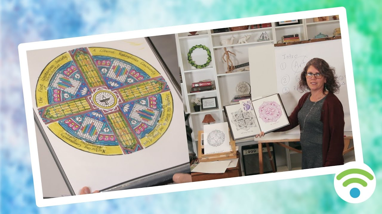 draw a mandala a day at connect.faith | The Light Shines Through | pilot season