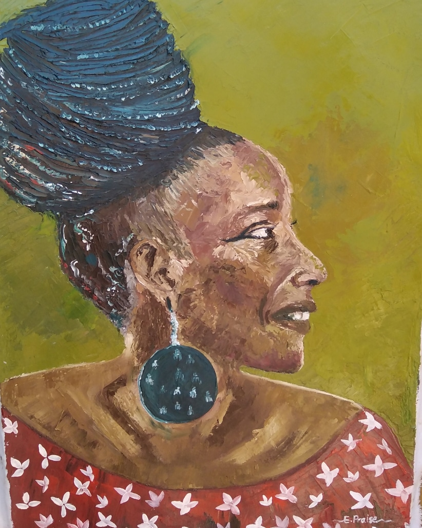 Aging but graceful | Oil on Canvas | Chiamaka Praise Esinulo